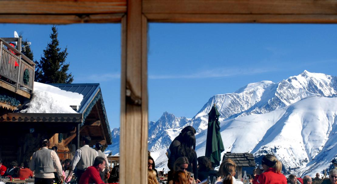 There are plenty of high quality mountain restaurants in Megeve