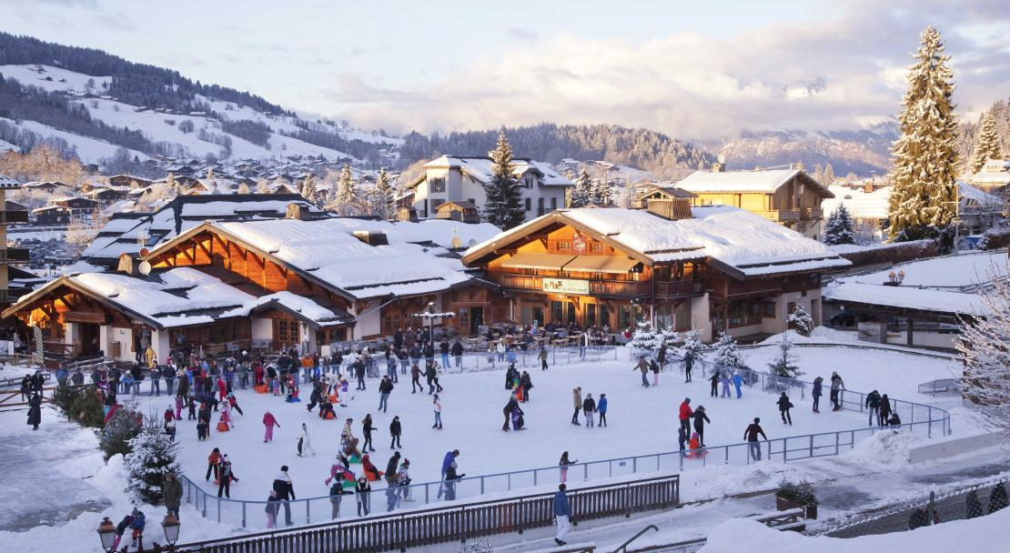 Ice Rink in Megeve