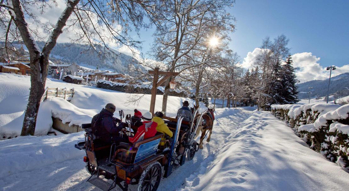 Horse drawn carriage in Megeve