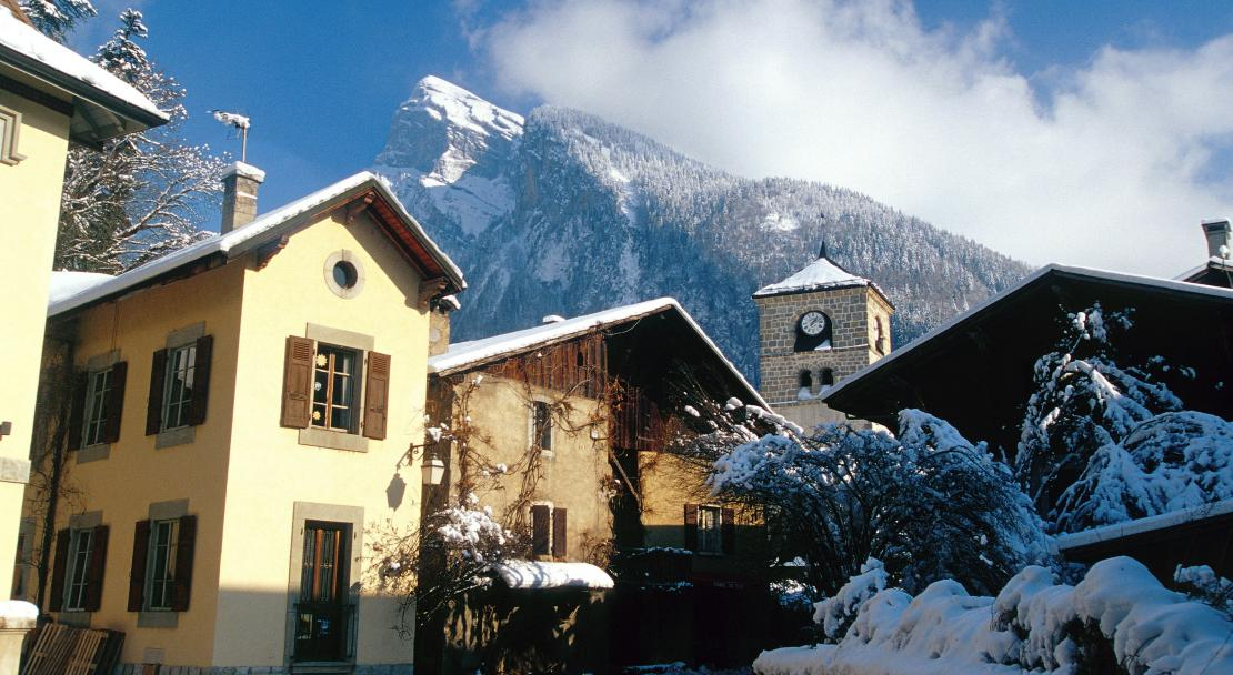 The traditional village of Samoens