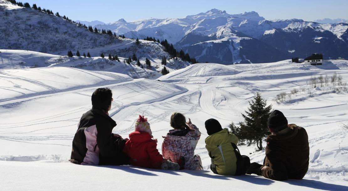 Views over the Grand Massif and Samoens ski resort