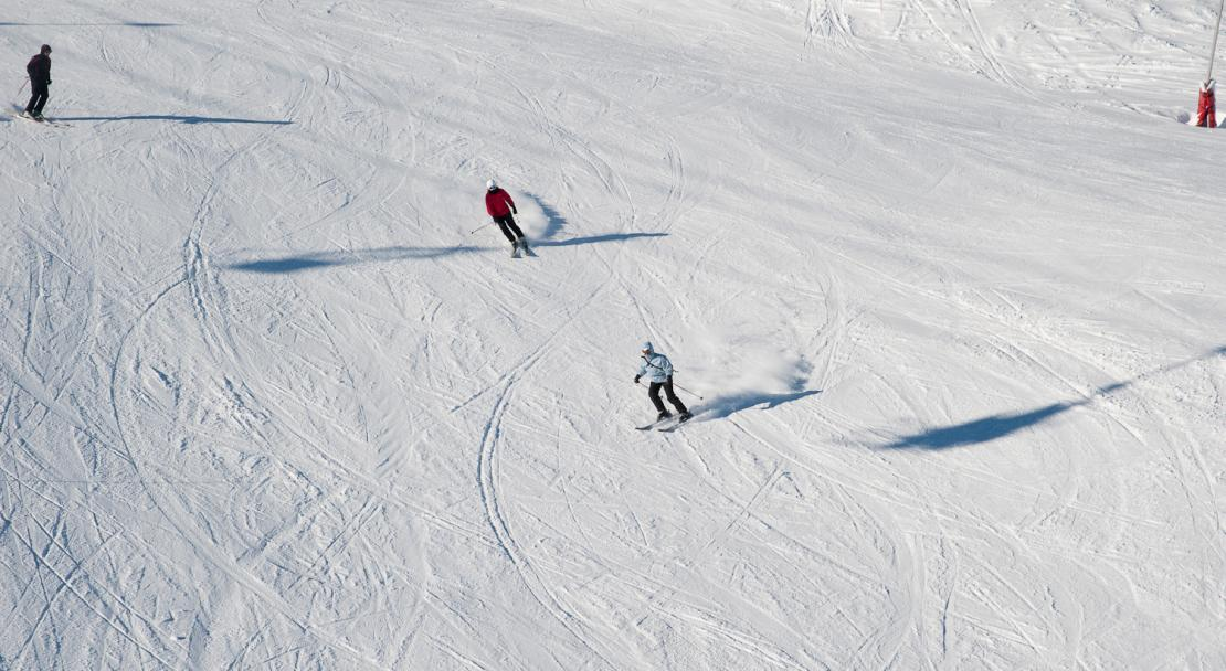 Skiing in Serre Chevalier, France