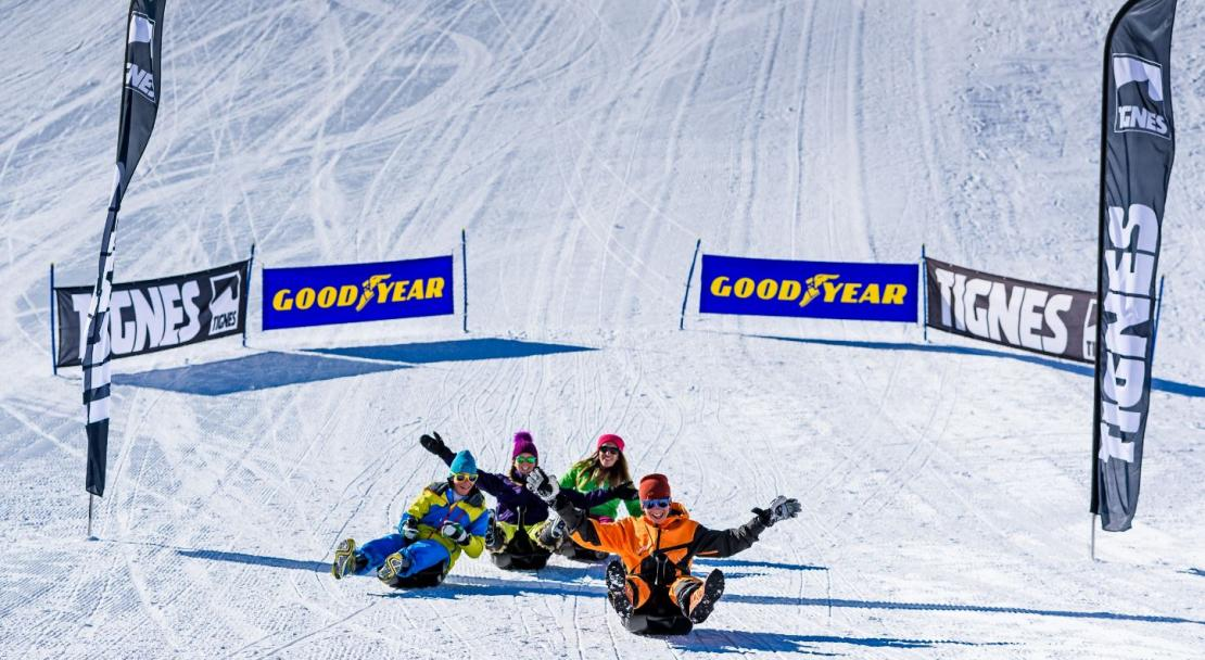 Sledding Tignes; Copyright: Greg Mistal