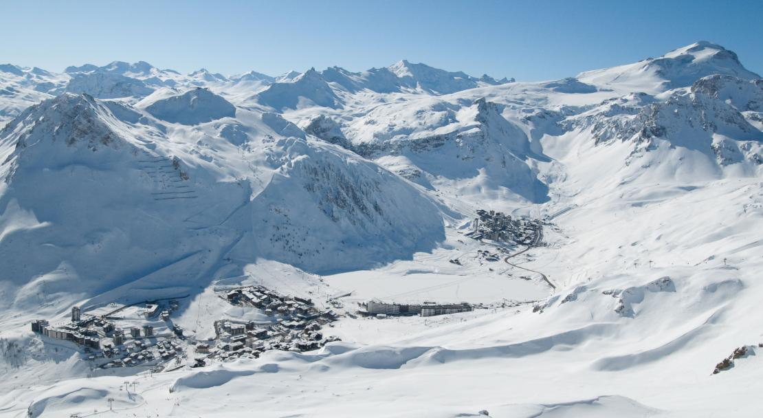 Tignes Aerial view; Copyright: Andy Parant