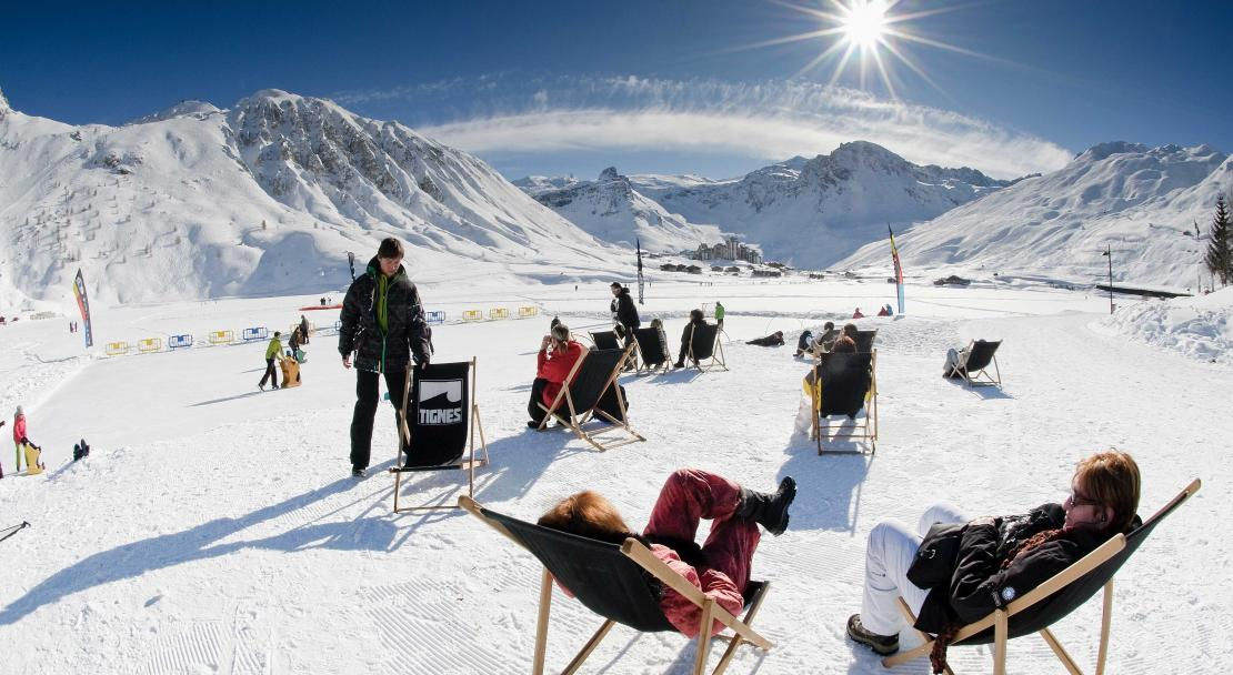 Relaxing in the sun in Tignes, France, Andy Parant; Copyright: Andy Parant