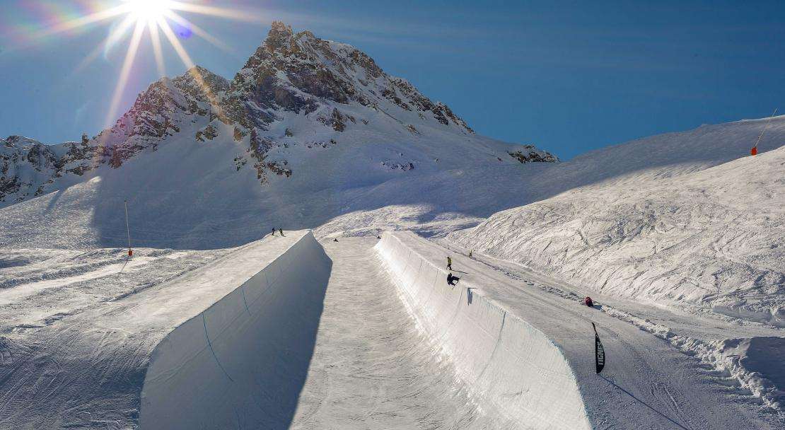Half pipe in Tignes, France; Copyright: Andy Parant