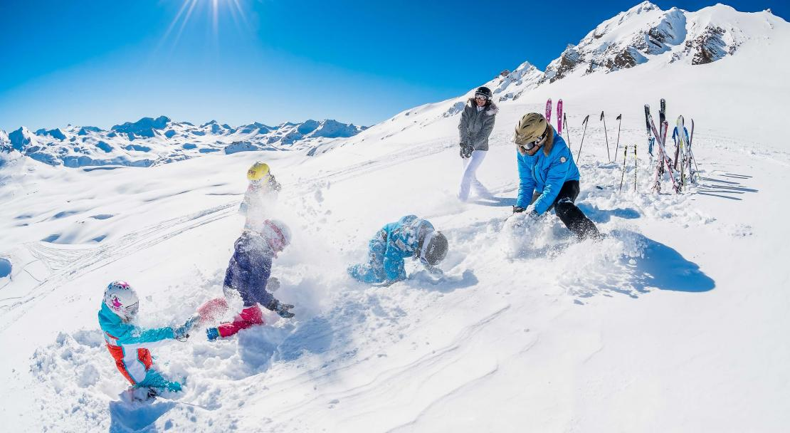 Val d'Isere, France, Family Skiing