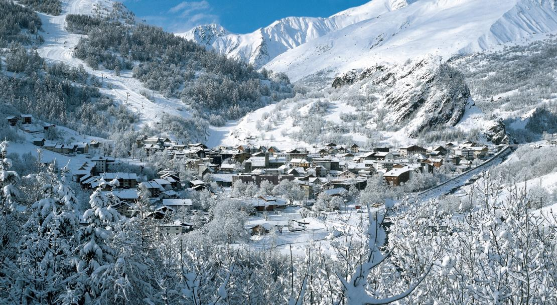 Valloire after snowfall
