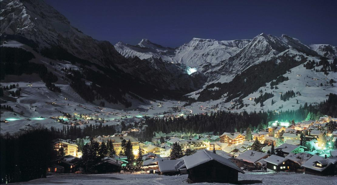 Adelboden at night