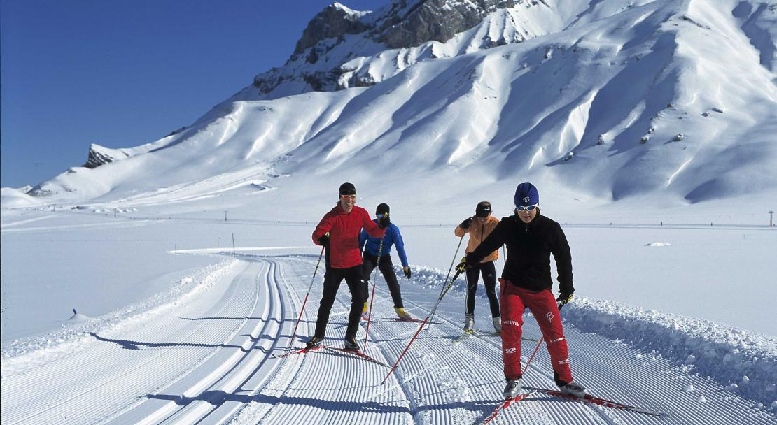 Cross-country skiing in Adelboden