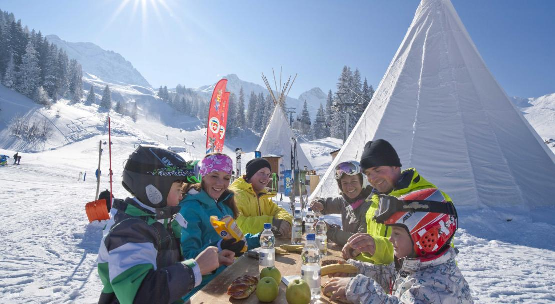 Family Lunch in Adelboden