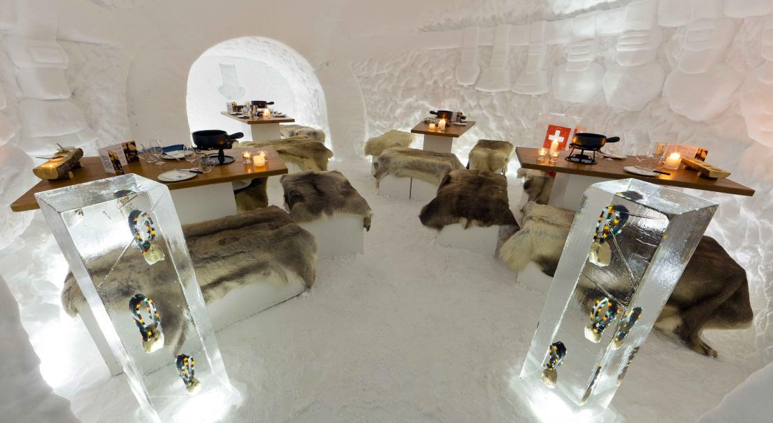 Igloo Dining in Adelboden