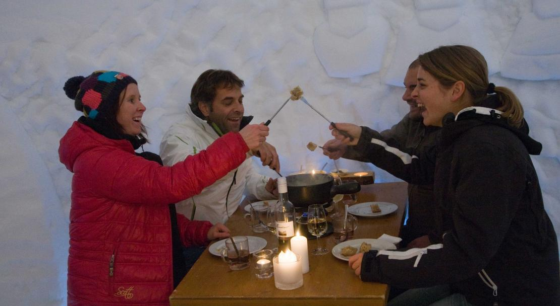 Igloo restaurant in Adelboden