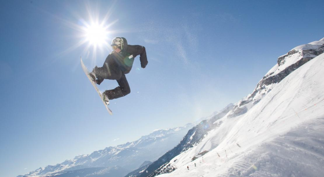 Crans Montana is a great resort for freestyle skiers and snowboarders.