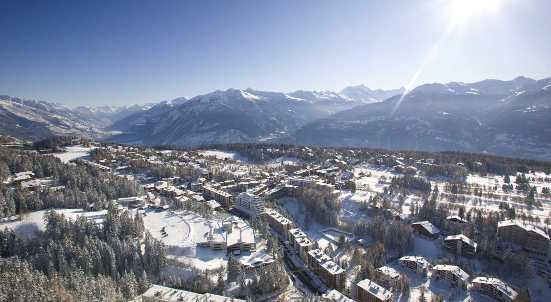 View of the town in Crans Montana; Copyright: Denis Emery