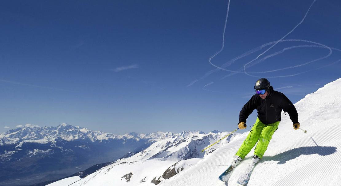 Advanced skiing in Crans Montana; Copyright: Olivier Marie
