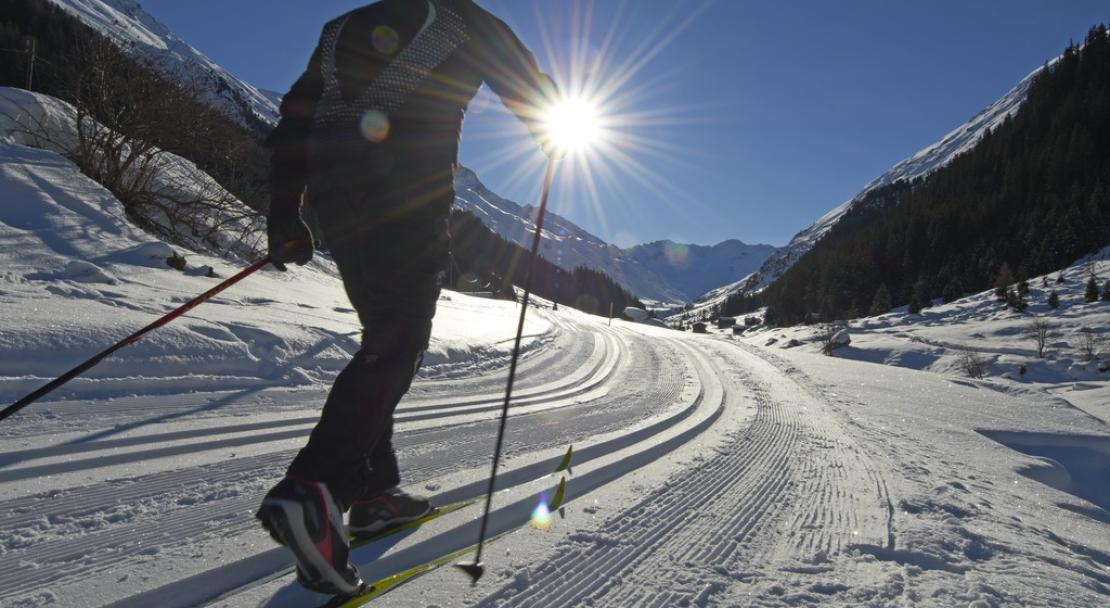 Cross country ski in Davos