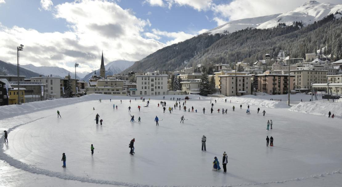Ice skating in Davos