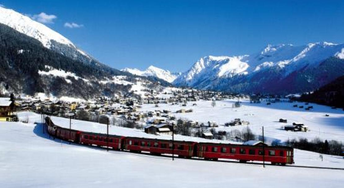 Train in Davos