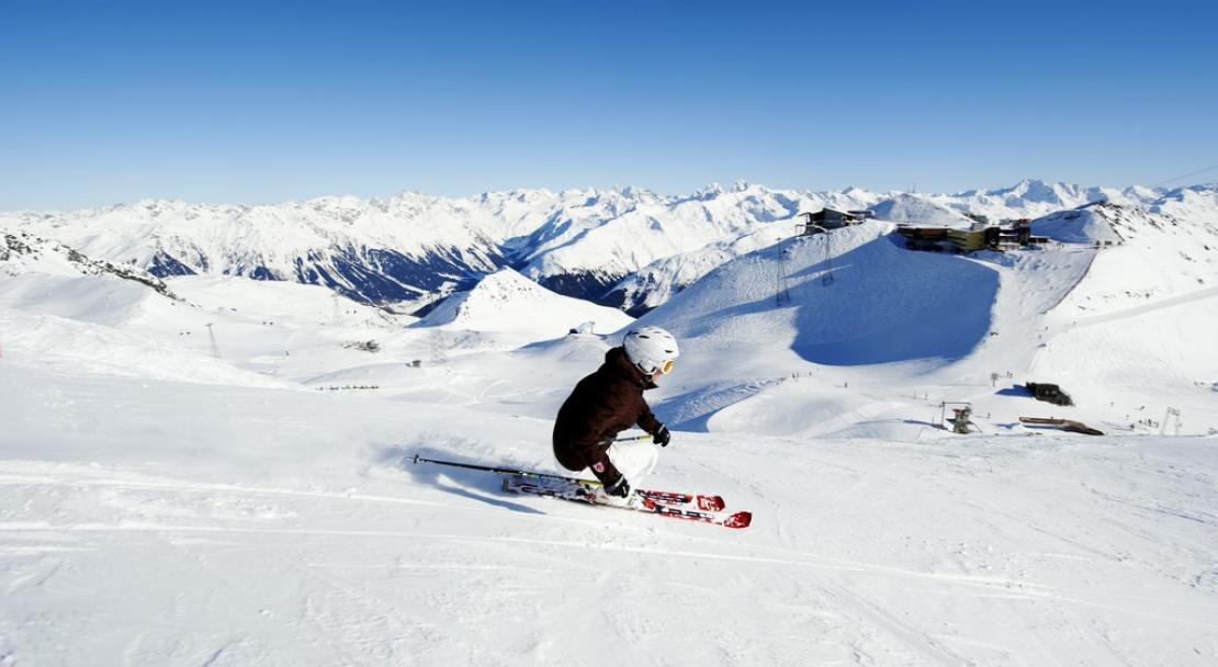 Skiing in Davos