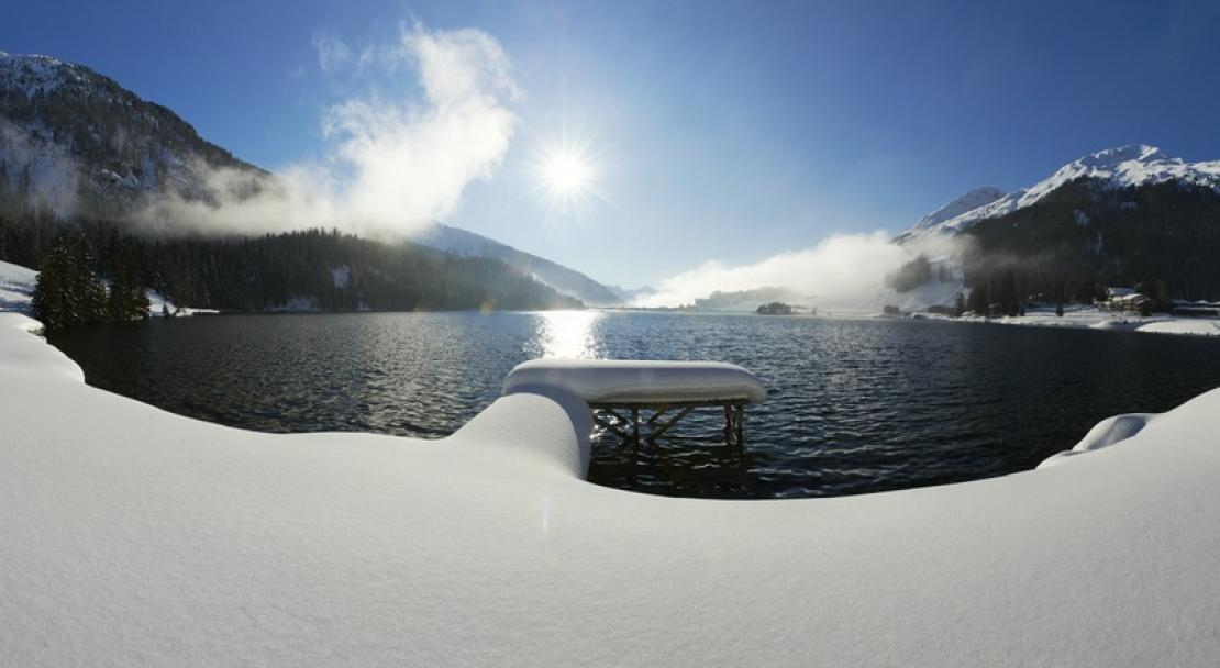 The lake at Davos