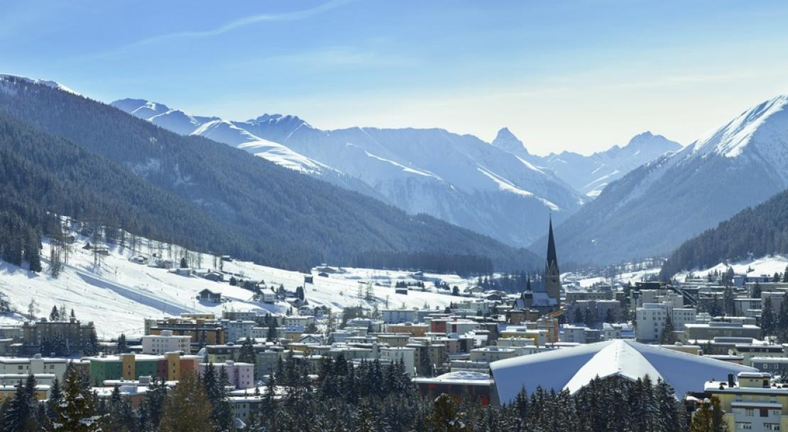 View over the village in Davos