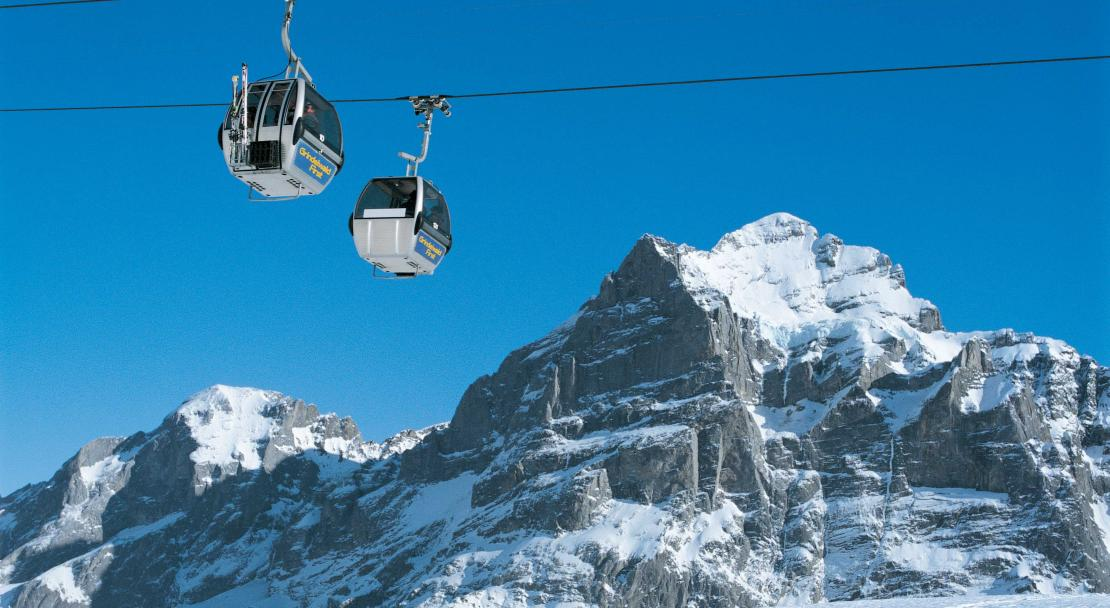 Cable cars in Grindelwald; Copyright: Jungfrau Railways