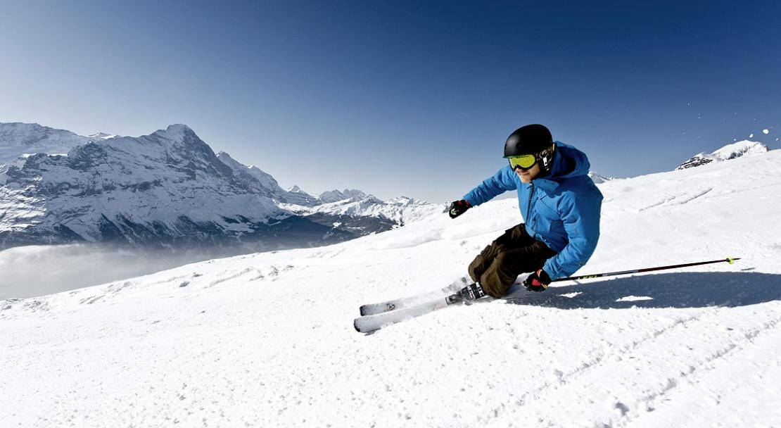 Skiing in Grindelwald