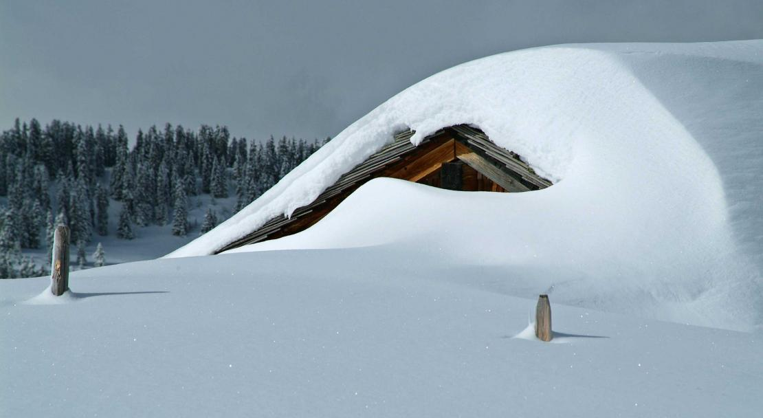 Heavy snow in Les Diablerets