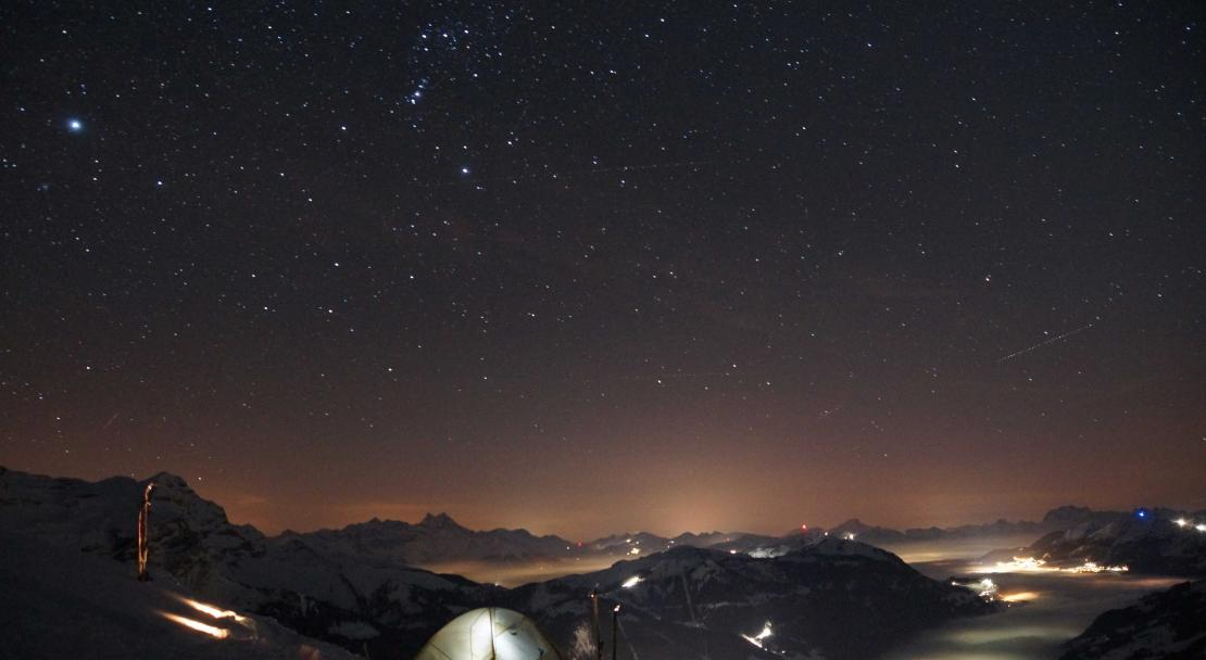 Night sky in Les Diablerets