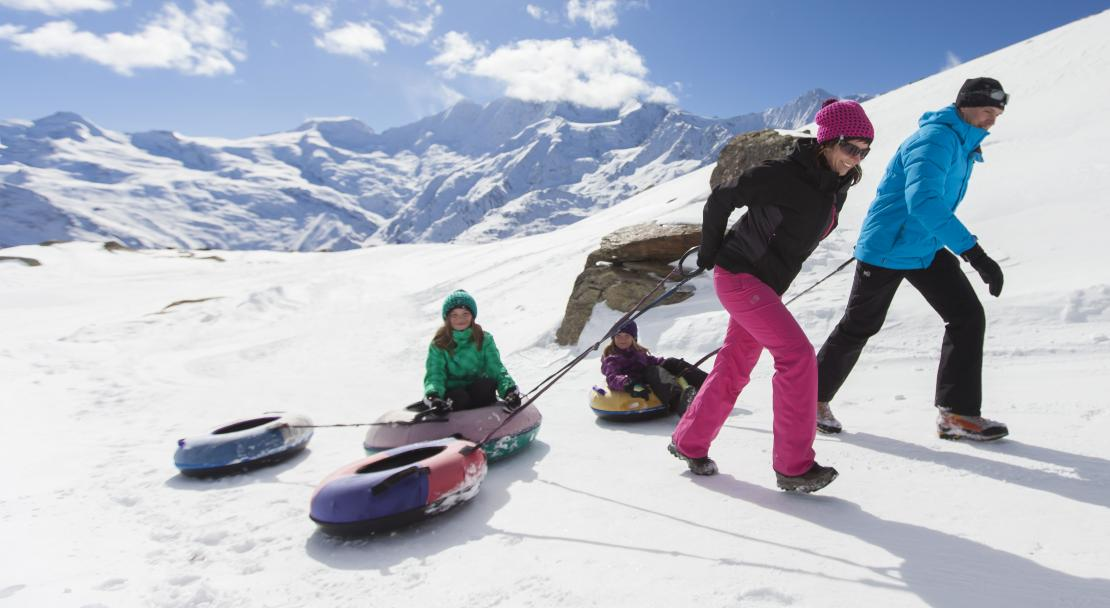 Family activity in Saas Fee