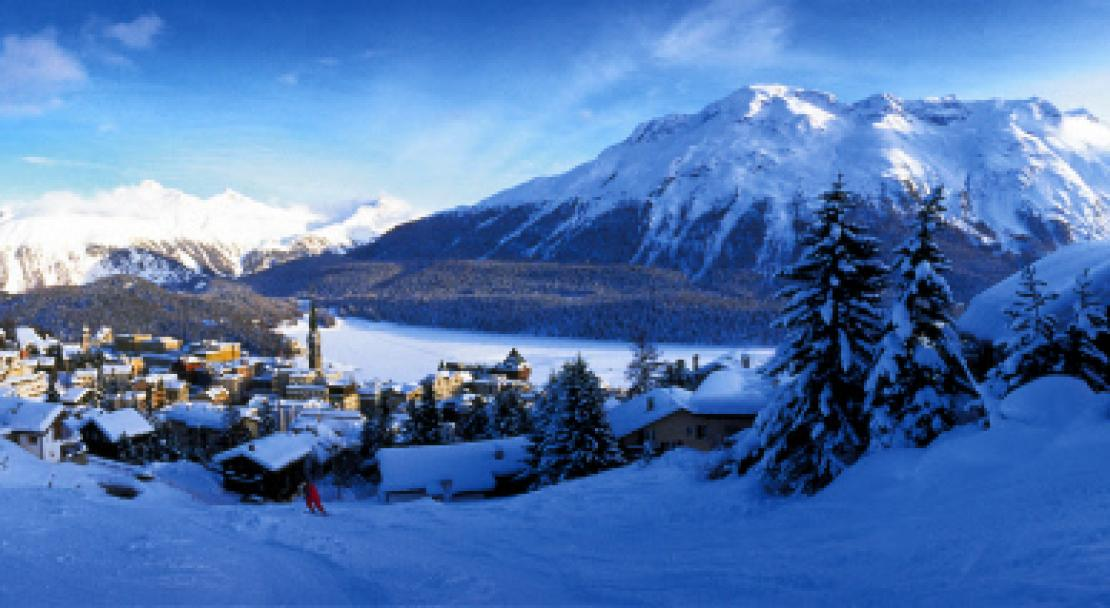 Overlooking the lake in St Moritz