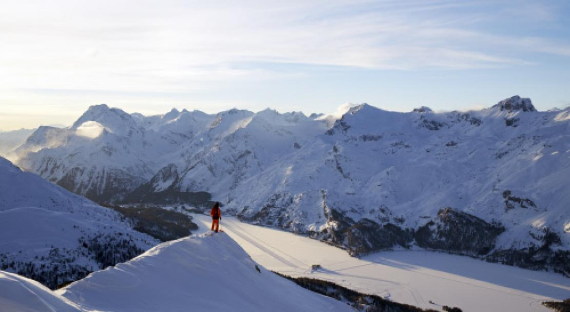 Spectacular views in St Moritz