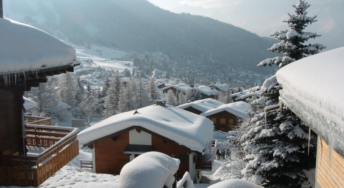Snow covered accommodation in Verbier
