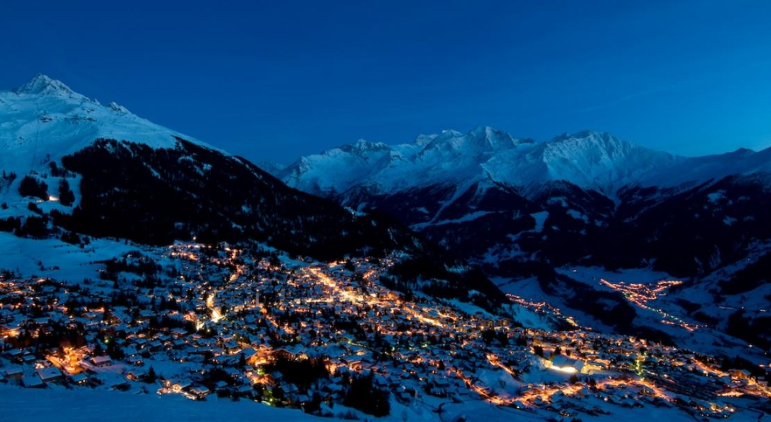 Verbier at night