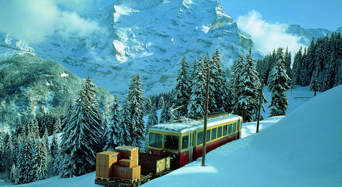 The train in Wengen