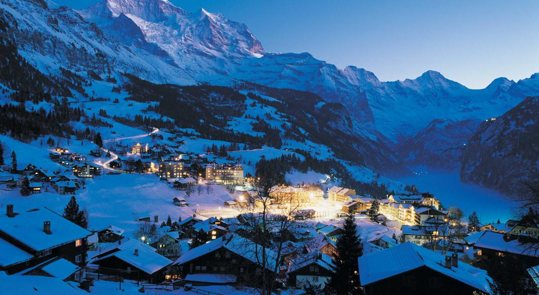 Wengen at night