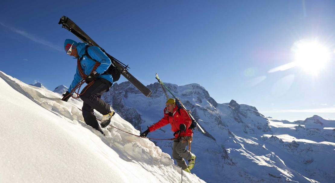Freeride climb in Zermatt; Copyright: Rainer Eder