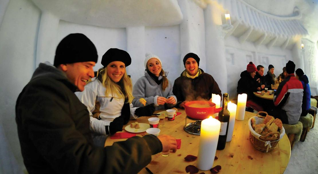Dining in an Igloo in Zermatt