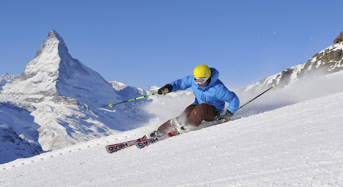 Ski slopes with views to the Matterhorn in Zermatt; Copyright: Michael Portman