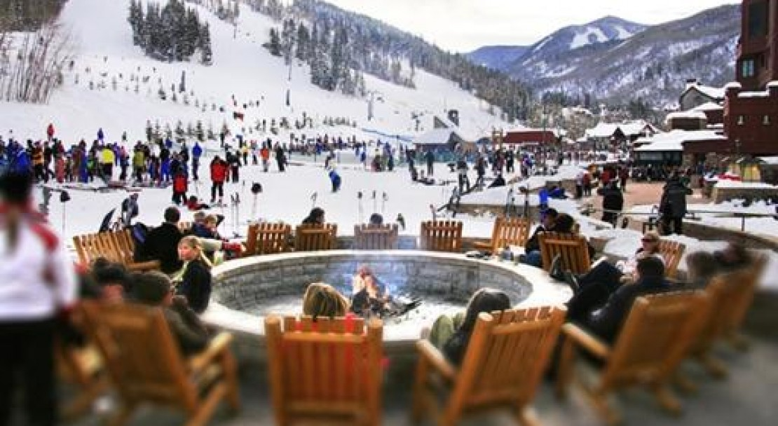 Relax by an open fire at one of Beaver Creeks many apres ski bars