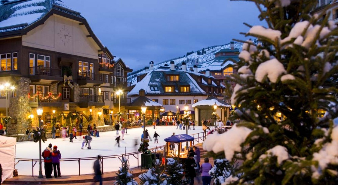 Beaver Creek Ski Resort Ice Rink Village Centre