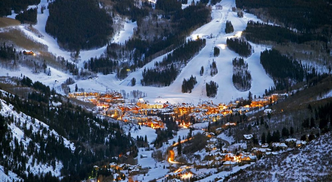 Beaver Creek Ski Resort at Night