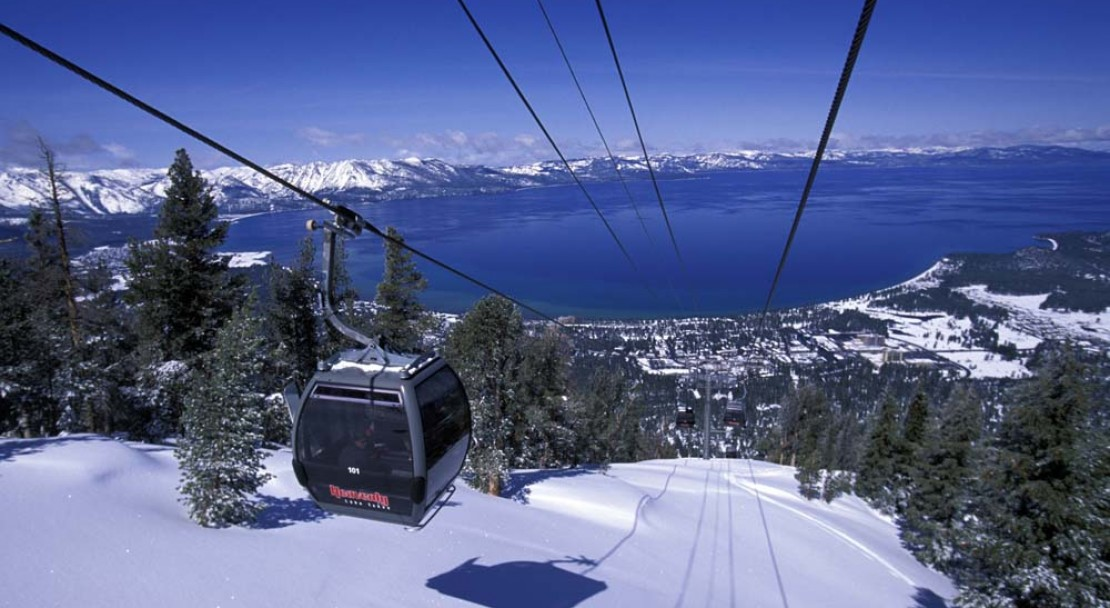 Heavenly Ski Holiday Gondola overlooking Lake Tahoe