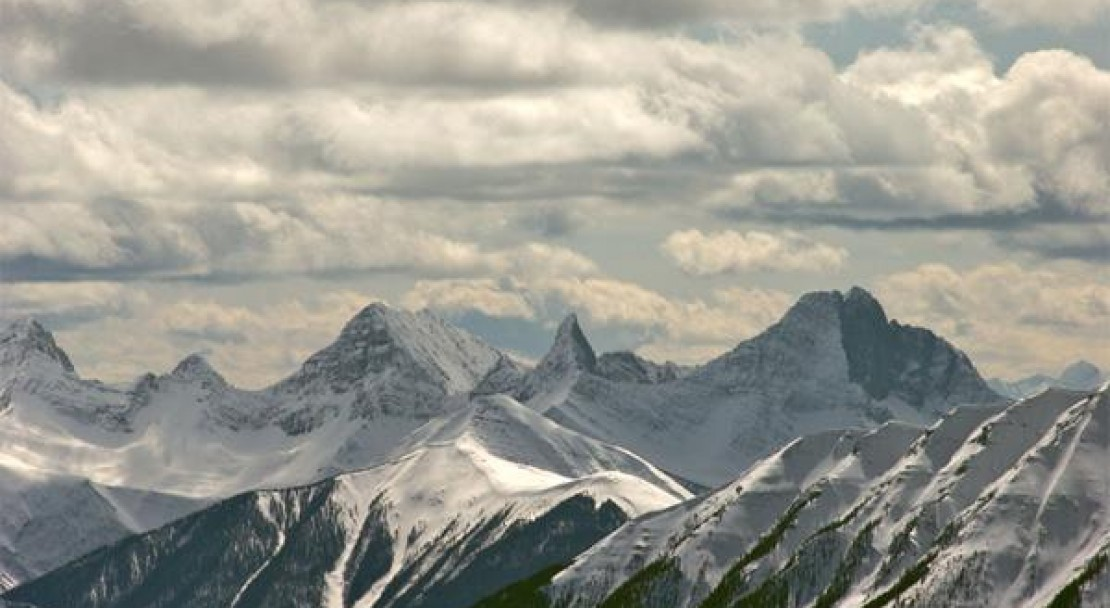 Mountain range in Banff