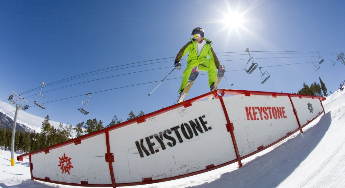 Boarding in Keystone; Copyright: Chad Schmidt