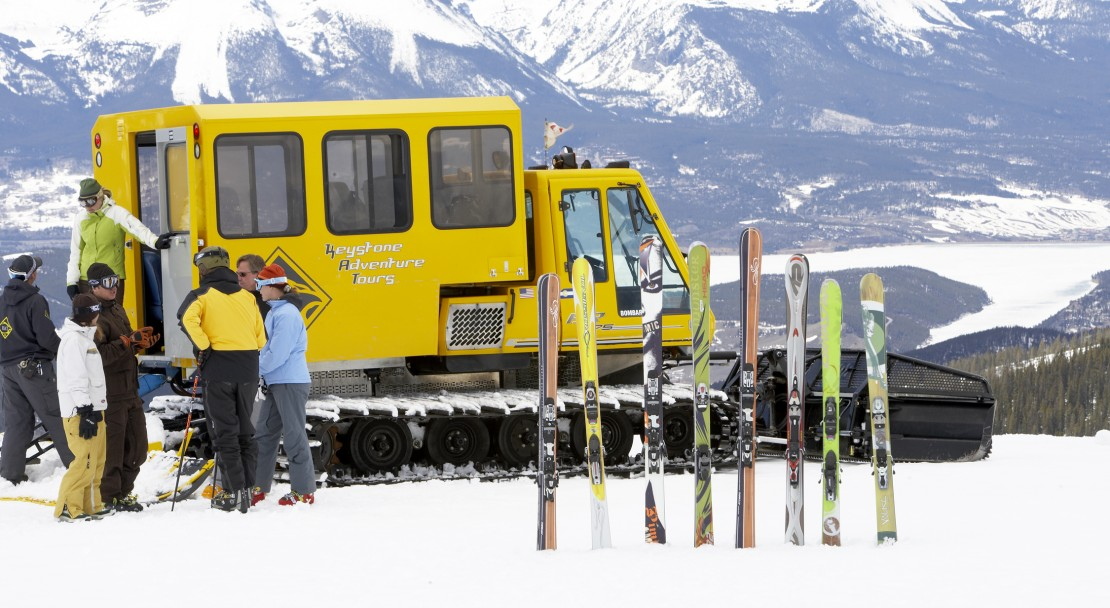 Skis all ready to go in Keystone; Copyright: Jack Affleck