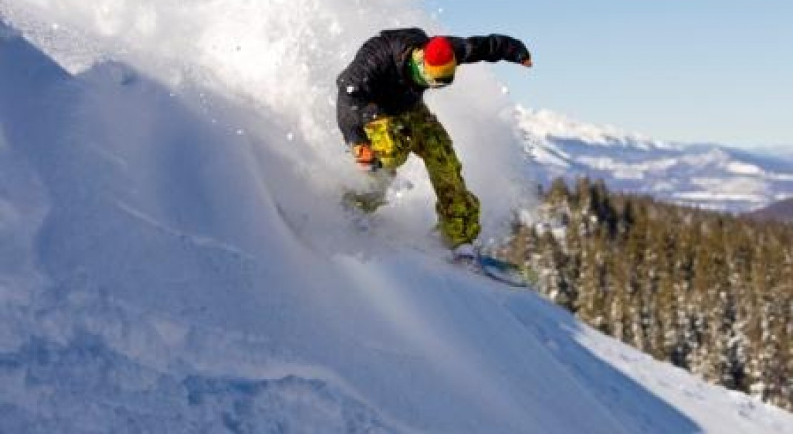 Boarding the powder in Keystone; Copyright: Jack Affleck