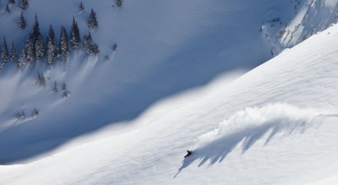 Powder from above in Telluride; Copyright: Ben Eng - Telluride Tourist Office