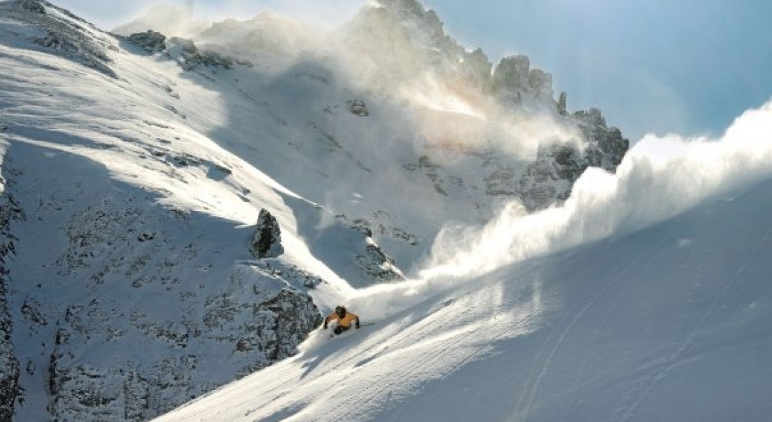 Whipping up some powder in Telluride; Copyright: Brett Schreckengost - Brett Schreckengost